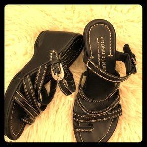 Donald J Pliner Wedgy Sandals.